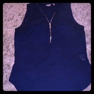 New York & company zipper top